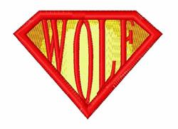 Super Wolf embroidery design