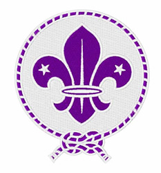 Scout Emblem embroidery design