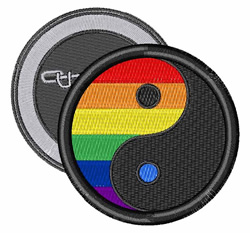 Gay Yin Yang embroidery design