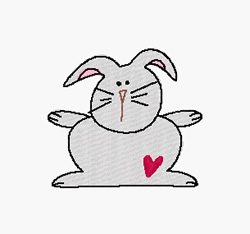 Bunny embroidery design