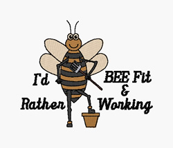 Bee Fit embroidery design
