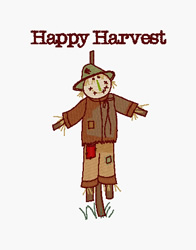 Happy Harvest embroidery design