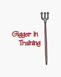 Gigger In Training embroidery design
