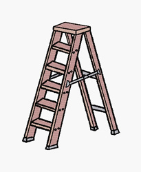 Ladder embroidery design