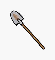 Shovel embroidery design