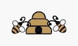 Honeybees embroidery design