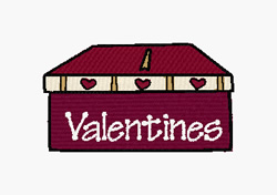 Valentines Box embroidery design