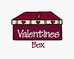 Valentines Box embroidery design