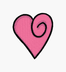 Swirl Heart embroidery design