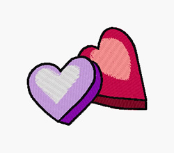 Heart Candy embroidery design