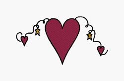 Heartstrings embroidery design