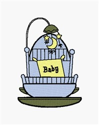 Baby Bassinet embroidery design