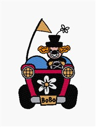 Clown Car embroidery design