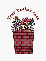 True Basket Case embroidery design