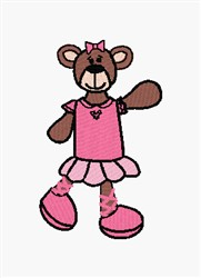 Ballet Bear embroidery design