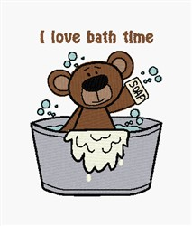Love Bath Time embroidery design