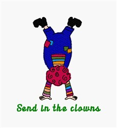 Send Clowns embroidery design