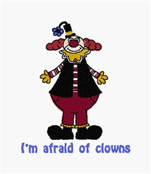 Afraid Of Clowns embroidery design