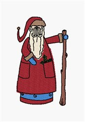 Old Fashioned Santa embroidery design