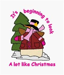 Look Like Christmas embroidery design