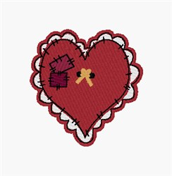 Heart Patch embroidery design