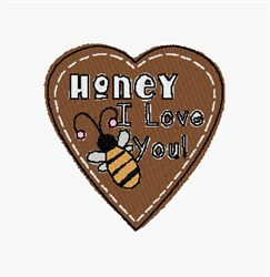 Honey embroidery design