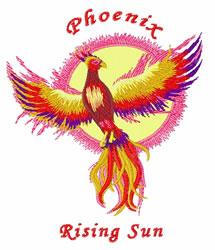 Rising Sun embroidery design