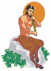 Satyr with Pan Pipes embroidery design