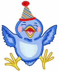 Birthday Chick embroidery design