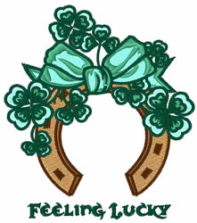 Feeling Lucky embroidery design