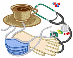 Med Supply embroidery design