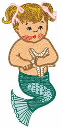 Mermaid Girl embroidery design