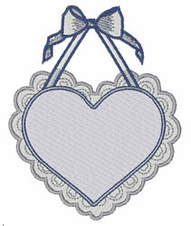 Valentine embroidery design