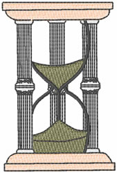 Hourglass embroidery design