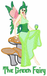 The Green Fairy embroidery design