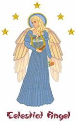 Celestial Angel embroidery design