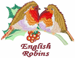 English Robins embroidery design