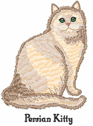 Persian Kitty embroidery design