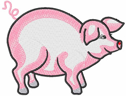 Pink Pig embroidery design