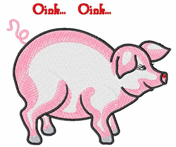 Oink embroidery design