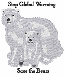 Stop Global Warming embroidery design
