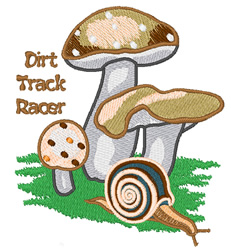 Dirt Track Racer embroidery design