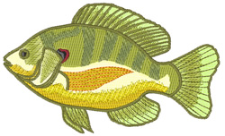 Sunfish embroidery design