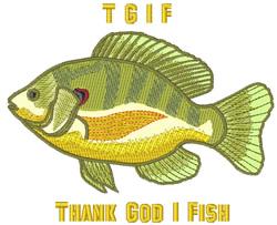 Thank God I Fish embroidery design