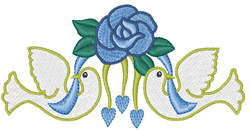 Wedding Topper embroidery design