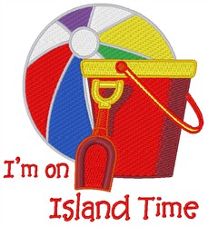 Island Time embroidery design