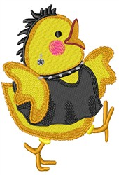 Goth Chick embroidery design