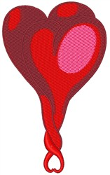 Entwined Hearts embroidery design