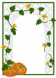Pumpkin Trellis embroidery design