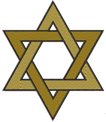 Star of David embroidery design